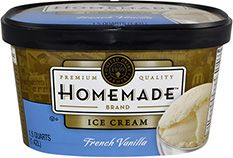 Homemade Brand French Vanilla ice cream