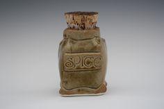 Stoneware Pottery Spice Jar by Noël Keag Spice Jars, Stoneware, Spices, Pottery, Vase, Decor, Noel, Ceramica, Spice