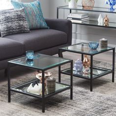 Belham Living Lamont Bunching Coffee Table - Black   from hayneedle.com