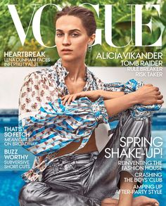 Alicia Vikander Covers The March 2018 Issue Of Vogue US, Lensed By Steven Klein In 'Lara Croft' Interview