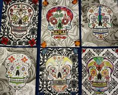 Mixed media Day of the Dead skulls - grade 5 and 6
