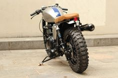 Accessories: 20 Awesome Photos Cafe Racer Tires Motorcycles, Triumph Cafe Tracker With Off Road Tyres Photo