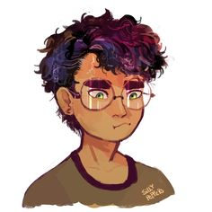 "sillypeppers: ""Harry potter the love of my life "" Cartoon Art Styles, Cartoon Drawings, Cool Drawings, Harry Potter Fan Art, Harry Potter Fandom, Cute Characters, Character Design Inspiration, Hogwarts, Slytherin"
