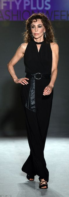 Former Vogue cover girl and muse Marie Helvin, 63, has taken to the catwalk with other mature models for the first ever Fifty Plus fashion week