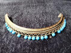 Old jewelry comb crown golden metal diademe pearl blue 19 th century xix   Vêtements, accessoires, Mariage, soirées, Accessoires de la mariée   eBay!