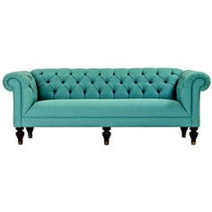 pretty pretty sofa. I think I'm developing a teal/turquoise/seafoam obsession though...