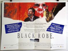 BLACK ROBE - LOTHAIRE BLUTEAU / ADEN YOUNG - ORIGINAL UK QUAD MOVIE POSTER