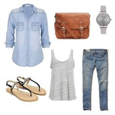 """Casual Uni outfit"" by sarah-bowyer on Polyvore featuring Hollister Co., maurices, Project Social T and Olivia Burton"