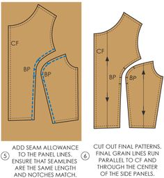 Fundamentals of Pattern Making: Princess Panel Lines - The Cutting Class