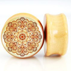 Find More Body Jewelry Information about 2pcs/Lot Pair of Nature Wood Ear Plugs Fit Ear Gauges Plugs   Indian Flower 2 6MM 25MM 2G 1'' Flesh Tunnels,High Quality ear gauges,China flesh tunnel Suppliers, Cheap gauge plug from DreamFire Store on Aliexpress.com Body Piercing, Ear Piercings, Flesh Tunnel, Indian Flowers, Body Jewellery, Jewelry, Gauges Plugs, Beaded Rings, China