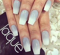 Ombre coffin/square nails