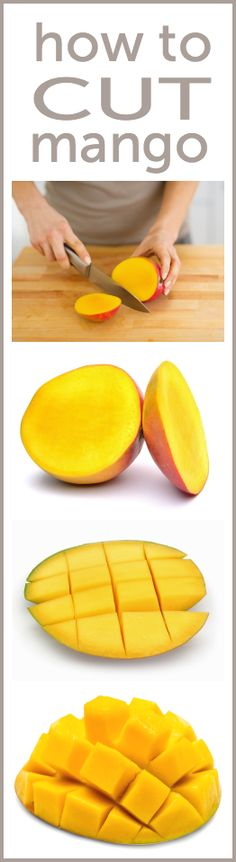 How to Cut Mango ~ How to slice away the pit and cut a mango