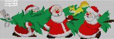 korssting mønster jul