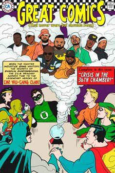 Justice League Meets the Wu Tang Clan Wu Tang Clan, Love N Hip Hop, Hip Hop And R&b, Comic Book Covers, Comic Books, Comic Art, Justice League Comics, League Of Extraordinary Gentlemen, Hip Hop Art