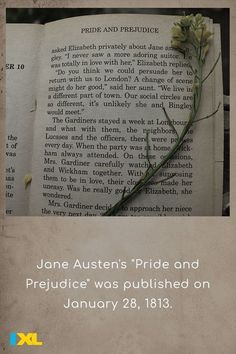 """It was originally published anonymously under the pen name """"A Lady."""" #OnThisDay #TBT Pride And Prejudice Elizabeth, Pen Name, Throwback Thursday, History Facts, Change The World, Social Studies, Thinking Of You, Fun Facts, Sayings"""