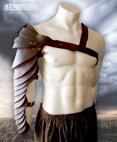 Spartacus manica being modelled by my trusty mannequin.  Buy one here: https://www.etsy.com/uk/listing/197283357/spartacus-manica-hand-made-leather?