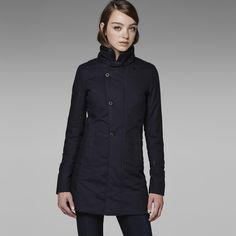 G-Star RAW   Women   Jackets-coats   Minor Relax Trench , Mazarine Blue