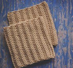 Simple Crochet Boot Cuff