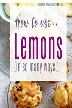 Best uses for lemons - across your home and kitchen Lemon Salt, Lemon Curd, Lemon Recipes, My Recipes, Easy Lemon Drizzle Cake, Lemon Infused Water, Lemon Scones, Dried Lemon, Lemon Vinaigrette