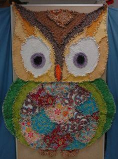Rag Quilt, Owl Shape, Unique Design