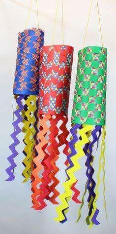 Lanternas com color set e papel estampado