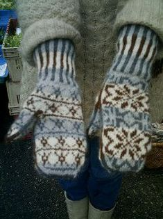 See Eunny display versions of these mittens on Episode 203: Crazy for Colorwork on Knitting Daily TV.