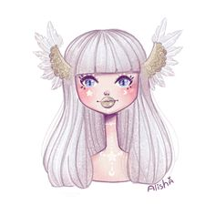 Magic chibigirl by Alishaillustration on Etsy
