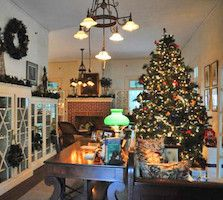 The Estates' 20 acres of gardens and historic buildings are seasonally decorated for Edison & Ford Holiday Nights