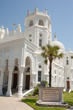 Beautiful architecture is all around in Galveston.  This is  Sacred Heart Catholic Church ~ Galveston, Texas