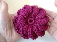 DIY how to crochet 3 crochet flowers