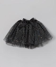 Black Shimmer Polka Dot Tutu