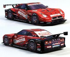 Here are two easy-to-build paper models in 1/32 scale of Nissan Autech GT500 racing vehicles , the Calsonic and the Motul . Created by  Jap...