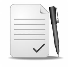 pen-paper icon. can be used for feedback, because its the easiest way to give feedback to someone.