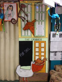 The Giraffe Pelly and Me Grubber Shop made for class Open Night