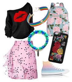 """""""Made By My Sister"""" by canehdiengirl on Polyvore featuring WithChic, Bambah, Converse, ban.do, INC International Concepts and Boohoo"""