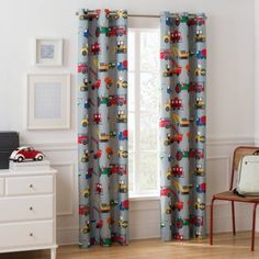 How Children's Curtains Can Make a Child's Room Look Special - Life ideas Kids Room Bed, Boy Room, Kids Bedroom, Bedroom Ideas, Child's Room, Boys Bedroom Curtains, Childrens Curtains, Boys Transportation Bedroom, Boys Construction Room