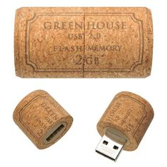 Cork USB Drive by Green House ~~ This is almost as cool as a TARDIS one!