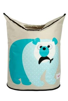 3 Sprouts Laundry Hamper - Polar Bear    Price: $44.95    Description:    Beautiful, stylish and versatile polar bear laundry hamper!    Does laundry seem to be taking over your child's nursery or bedroom? The 3 Sprouts Animal Laundry Hamper is the perfect solution. Two large handles collapse, creating an easy to access circular opening that stylishly keeps dirty laundry out of sight. And when you're ready to go, simply lift the handles and tote your laundry away.
