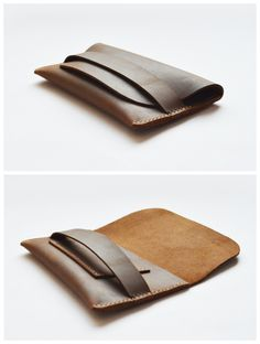Genuine Leather Handmade Wallet/Id Credit Cards Holder Case Compact Retro (VM111) - Thumbnail 4