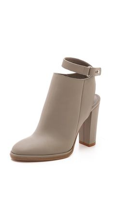 Vince Joanna Cutout Booties - WANT   shoes/ boots / taupe