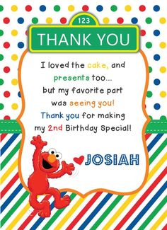 Josiah's Sesame Street Party | CatchMyParty.com More