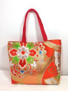 c7295d5366bf Kimono Obi Tote Bag Upcycled From Vintage Japanese Kimono Obi. Handmade tote  bag