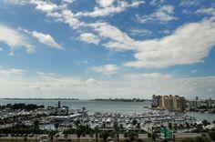 Water and Marina views from downtown Sarasota, Florida condos Bay Plaza.