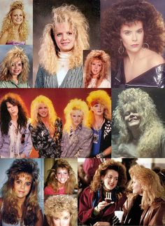 In the 80s the only thing bigger than shoulder pads was hair!