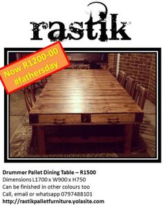 Visit Gumtree South Africa, your local online classifieds with thousands of live listings! Buy & sell cars, property, electronics, or find a job near you. Table Furniture, Garden Furniture, Pallet Dining Table, Home And Garden, It Is Finished, Colours, Collection, Home Decor, Outdoor Garden Furniture