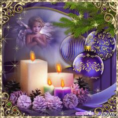 Christmas Tree Gif, Merry Christmas Pictures, Christmas Scenery, Merry Christmas Greetings, Purple Christmas, Magical Christmas, Christmas Candles, Cozy Christmas, Merry Christmas And Happy New Year