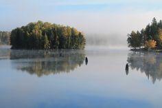 October in Finland Nainen Talossa