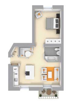 Plano apartamento 59 mts
