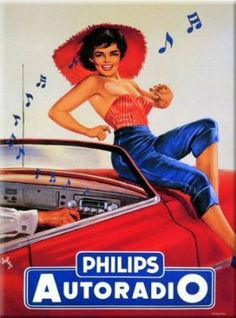 FRENCH VINTAGE METAL SIGN 20X15cm RETRO AD PHILIPS RADIO - M803: Amazon.co.uk: Kitchen & Home