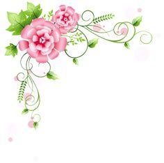Corner Floral Decoration PNG Clipart Picture